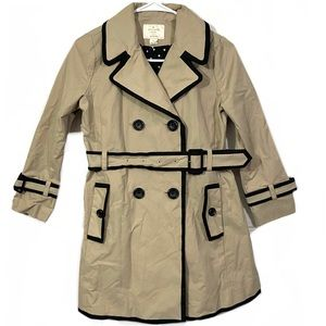 Kate Spade Top Liner Double Breasted Trench Coat